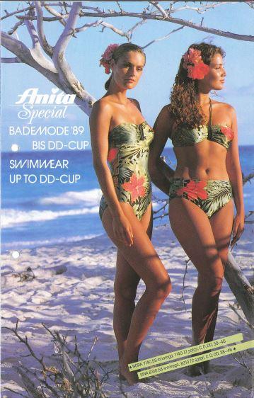 Bikini und Badeanzug von Anita 1989