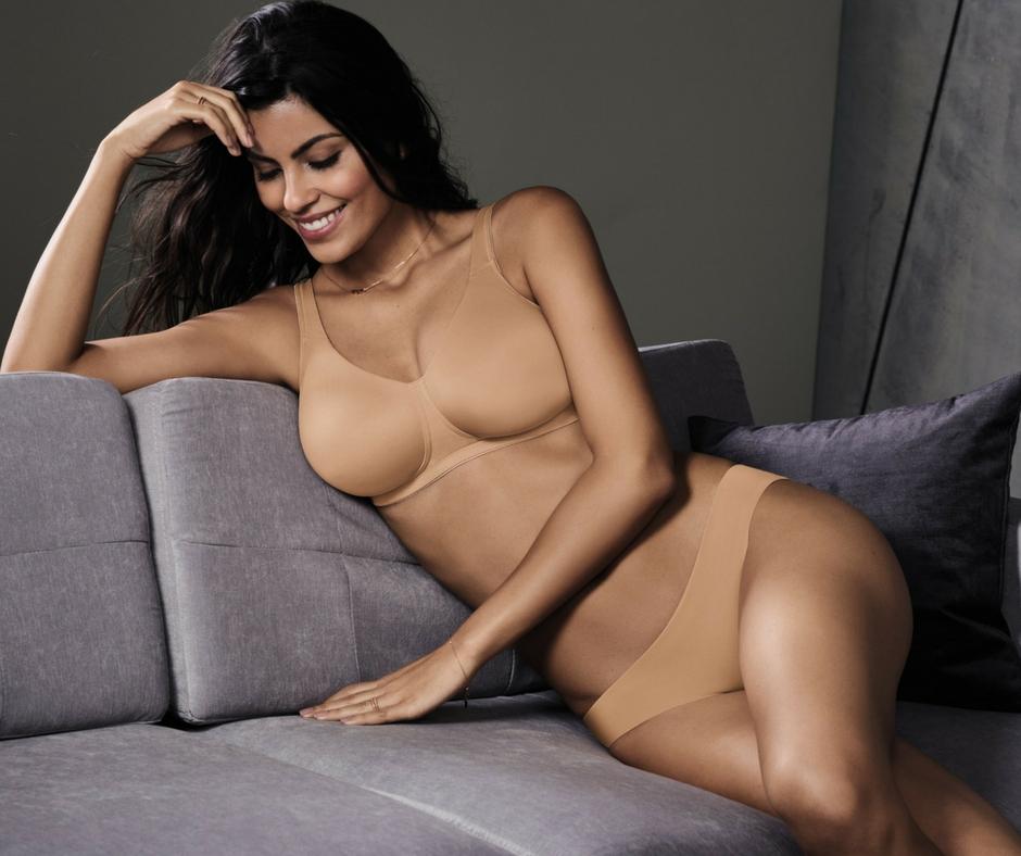 Cleanes Basic: Der T-Shirt BH Twin von Rosa Faia in der Hautfarbe Nude