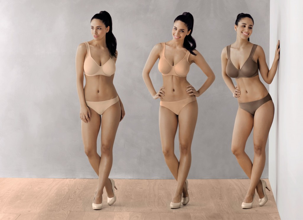 Rosa Faia tshirt bra collection in nude colour shades