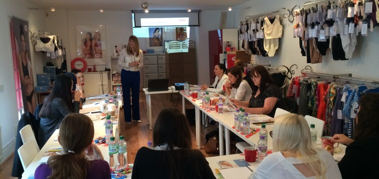 Fitting class for post mastectomy bras and breast forms for Rigby and peller in London at Anita care