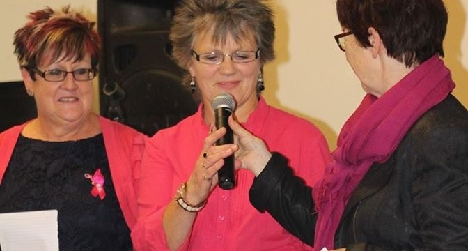 Sandra Geeves at an annual fund raising event representing Anita UK.