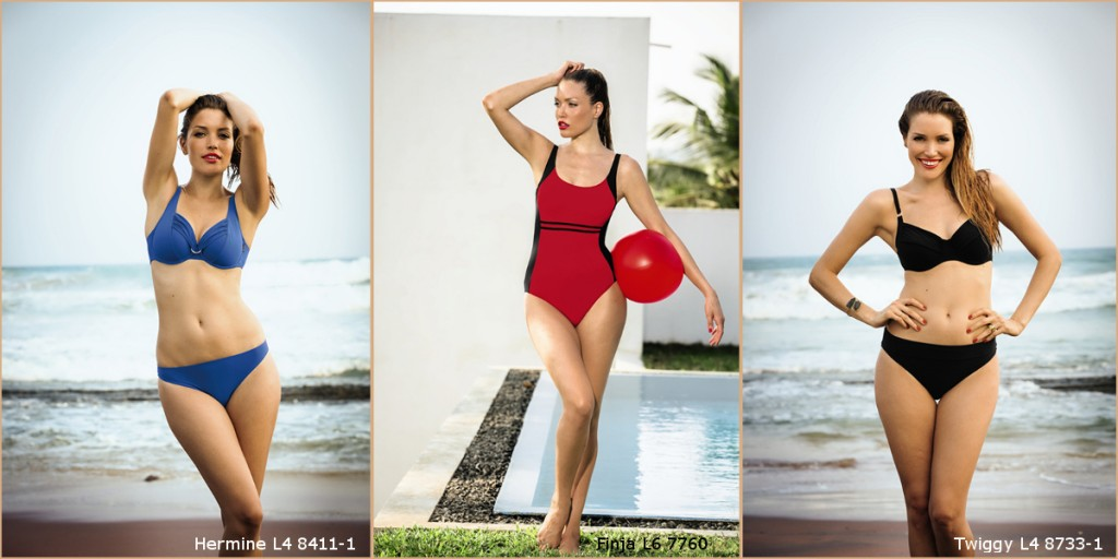 Fashionable bikinis and swimsuits for large cup sizes with great support from Rosa Faia collection 2016