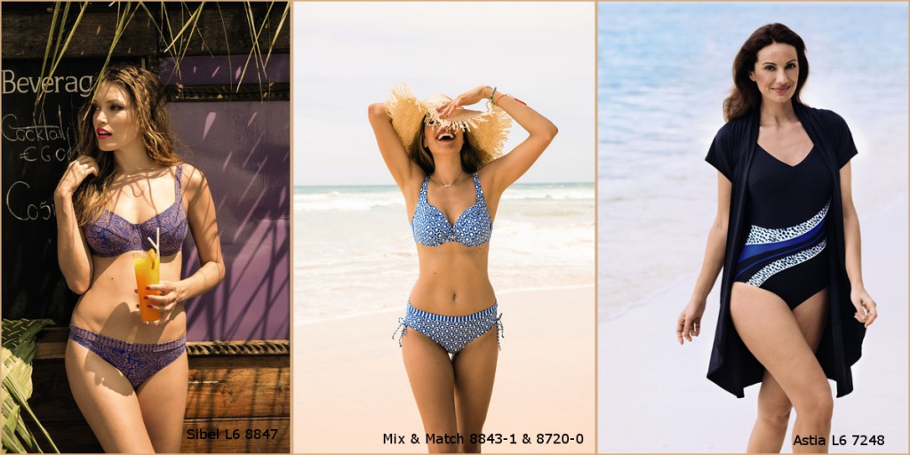 Perfect bikinis and bodysuits for apple shaped bodies as they have a slimming effect