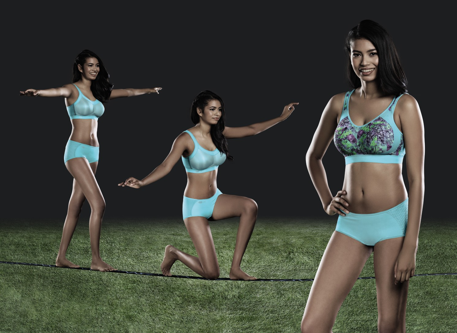 Colourful sports bras with high support from Anita active