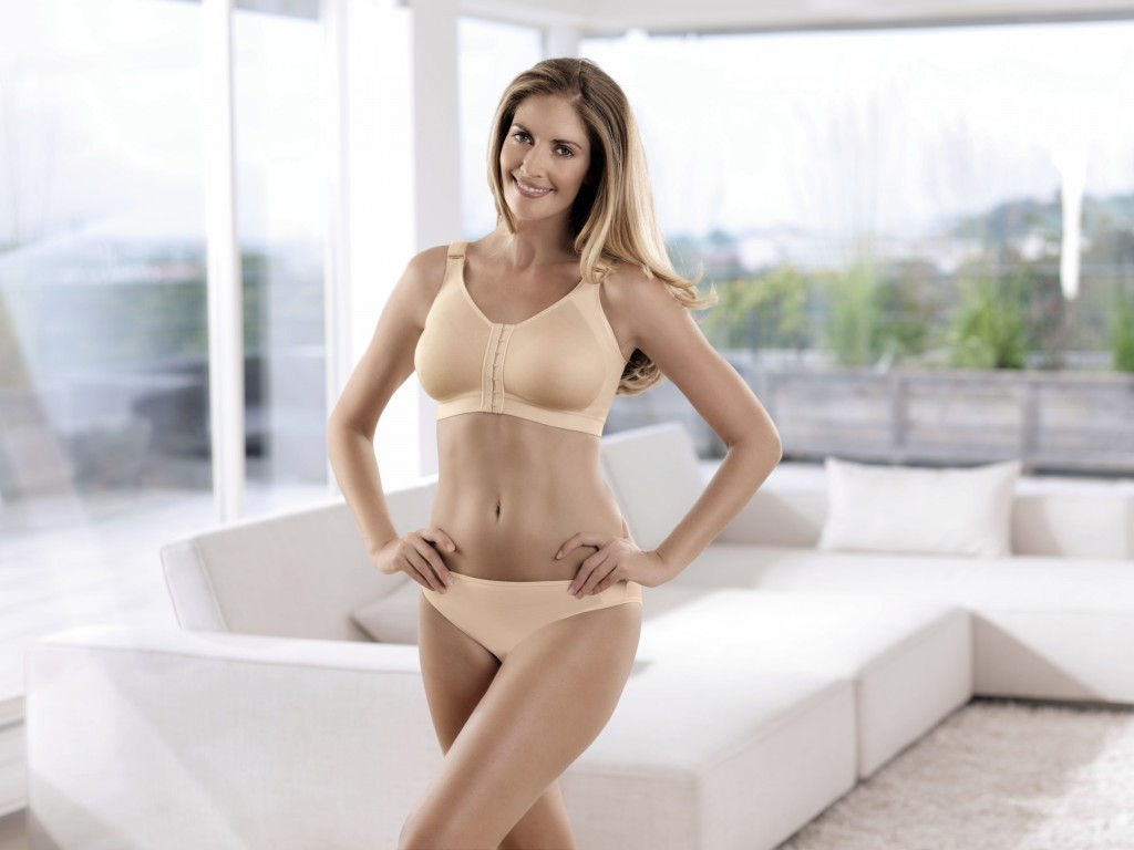 Anita compression bra with pockets after ablatio in nude