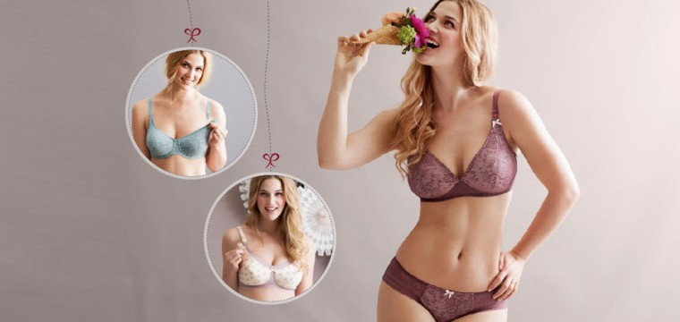 Pretty bras for breastfeeding in many colours from anita maternity