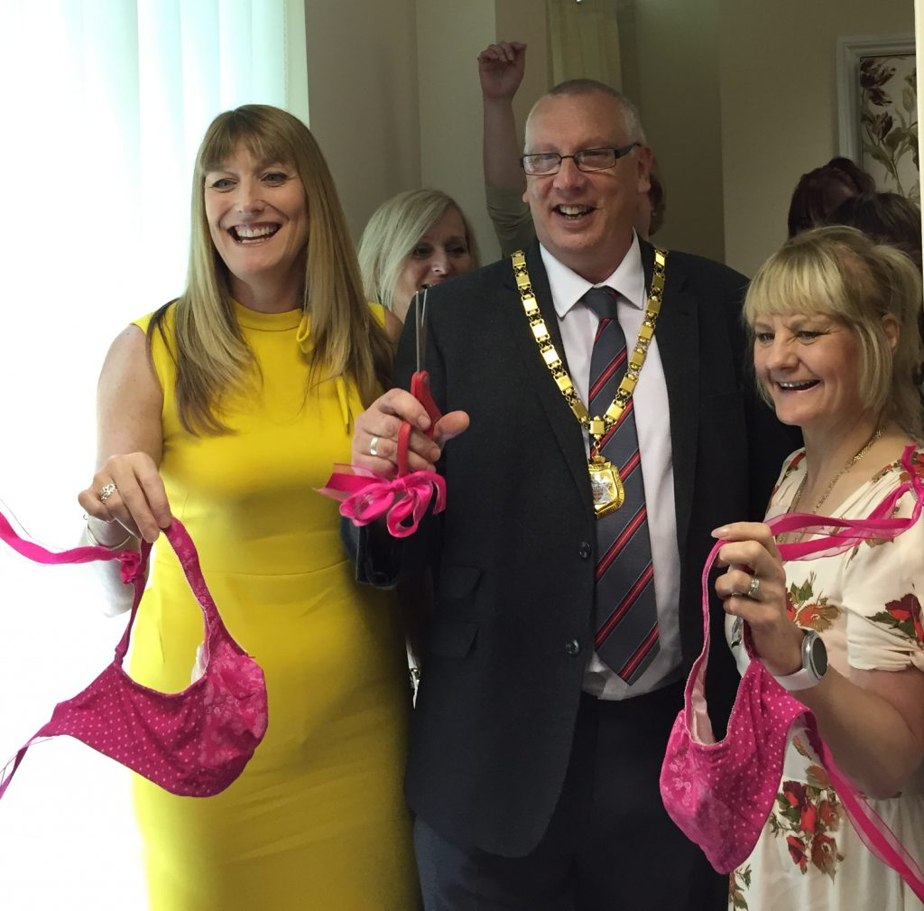 Opening of eloise suite with Jemma barnes and Steve Coventry, Mayor of Milton Keynes