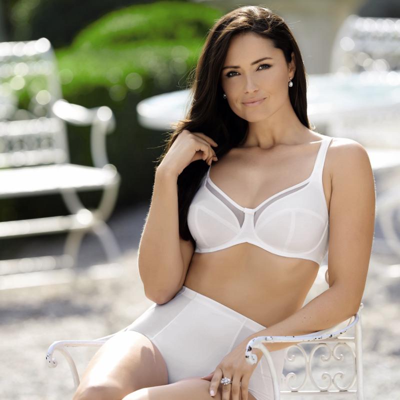 White comfort bra with underwire