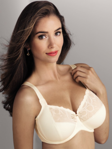nude coloured bra from Rosa faia to support large breasts