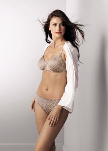 Light rose nude coloured bra with smooth underwire cups