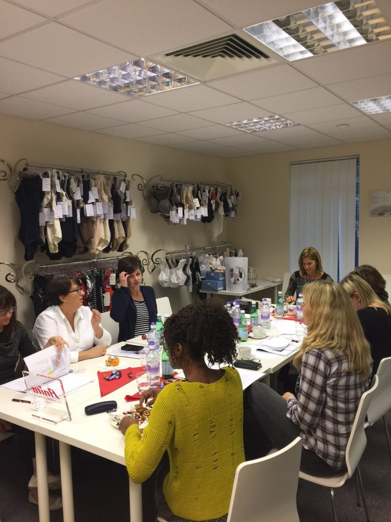 Training session on all post surgery products withinthe Anita care line