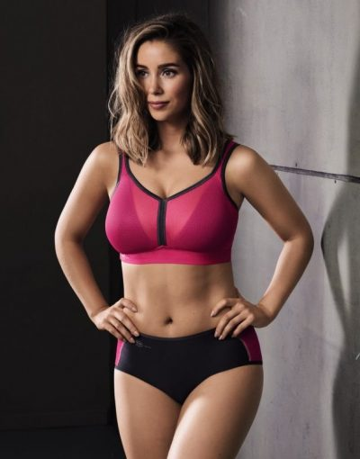 Pink padded bra with mesh from Anita active