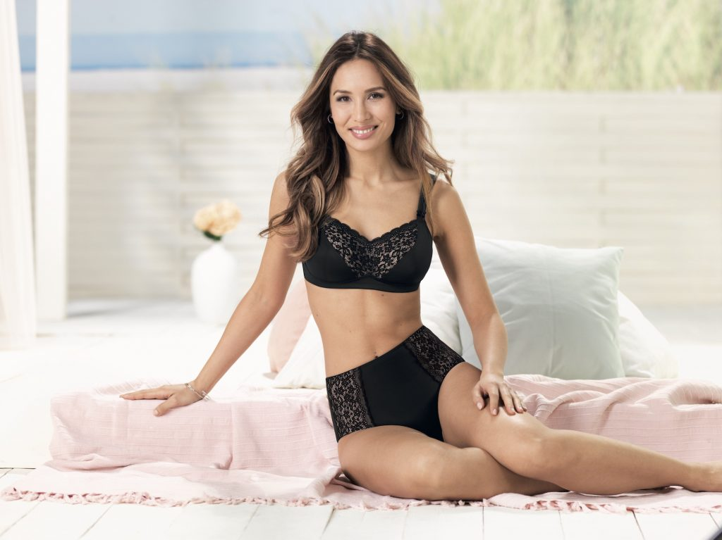 Black lace post mastectomy bra for breast from from Anita