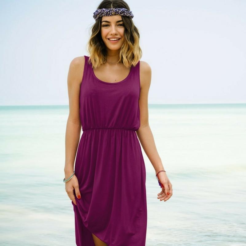 Floating beach dress from Rosa Faia