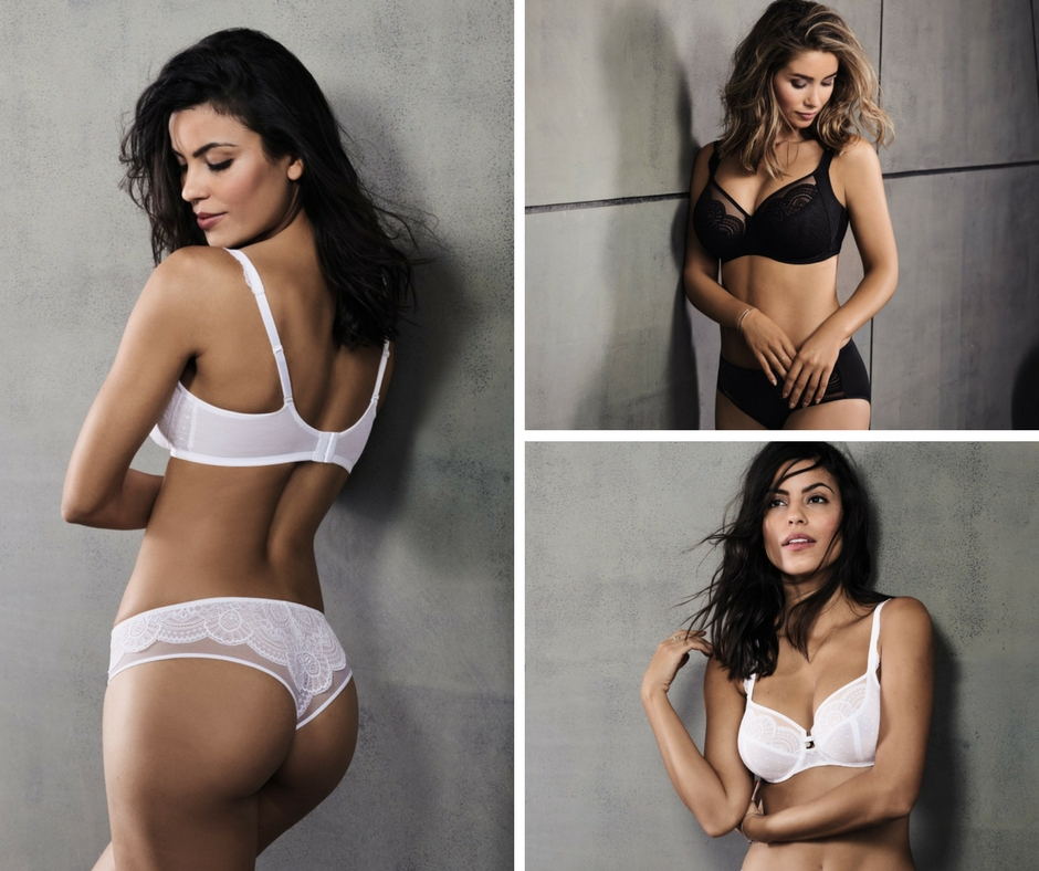 Lace bras from Rosa faia for full cups and cheeky brazilian panty
