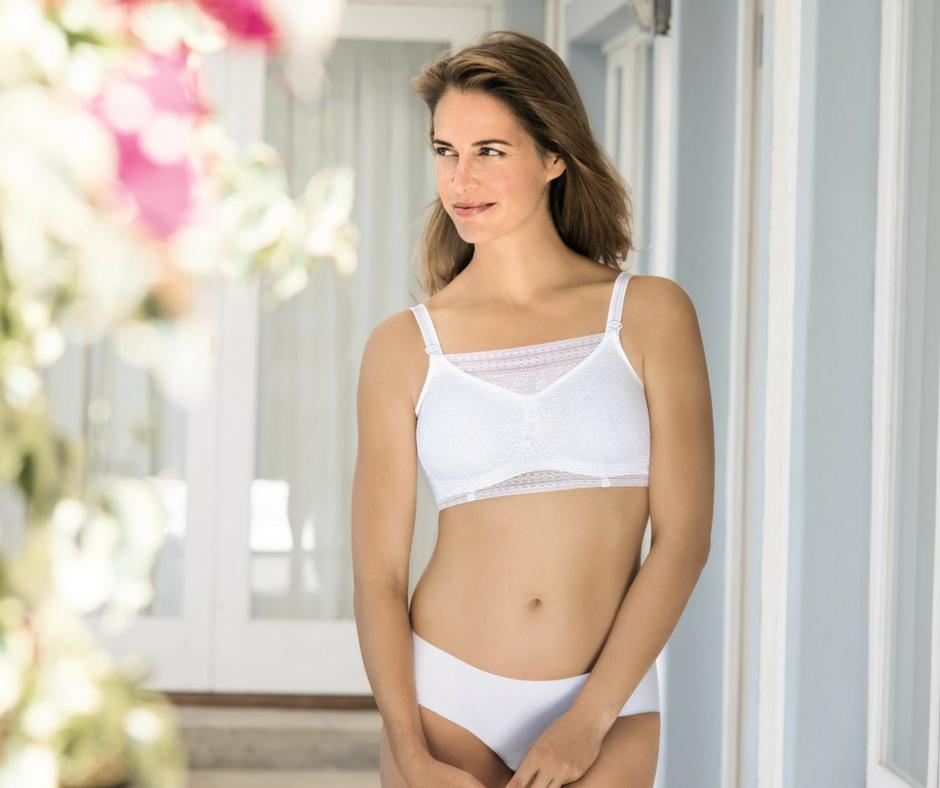 White Anita Top to clip on bra in white