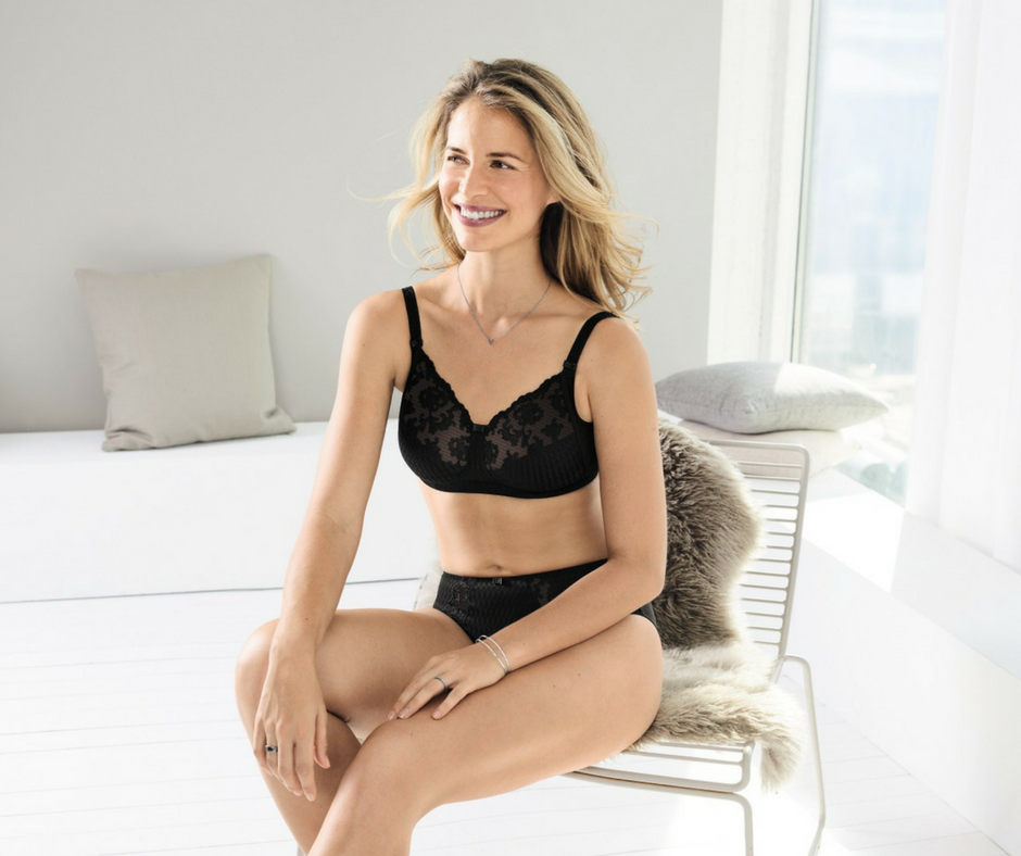 Black lace bra Charlie from Anita care for breast prosthesis